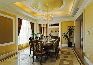 416平米新古典主义风格精致奢华别墅室内装修效果图赏析