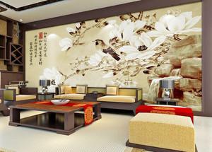 中式风格大户型精致客厅电视背景墙装修效果图赏析