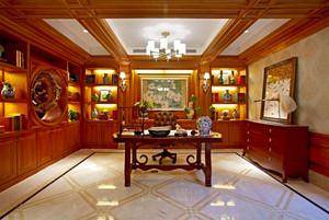中式风格大户型古典精致书房装修效果图赏析