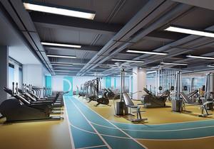 200平米现代简约风格健身房装修效果图欣赏