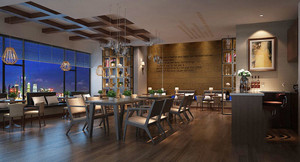 现代风格冷色调咖啡厅设计装修效果图赏析