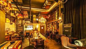 96平米美式乡村风格酒吧设计装修效果图赏析