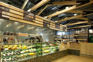 48平米乡村风格精致面包店展柜设计装修效果图