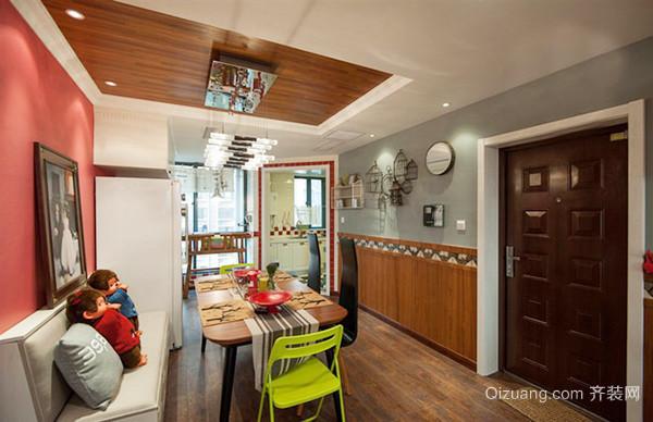 美式田园风格轻松自然两室两厅室内装修效果图赏析