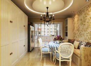 欧式风格大户型室内精美餐厅卡座设计装修效果图