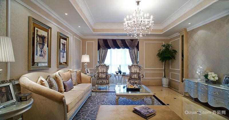 欧式风格大户型浅色素雅客厅装修效果图赏析