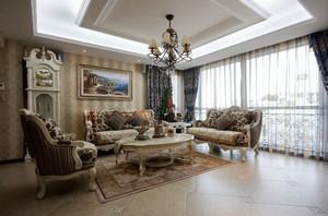 欧式风格精致典雅客厅吊顶设计装修效果图赏析