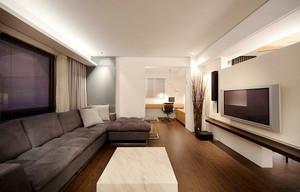 现代风格精致咖啡色大户型室内装修效果图案例