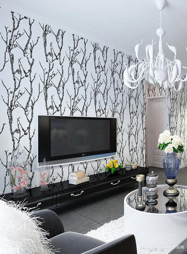 98平米现代简约风格时尚亮丽两室两厅室内装修效果图赏析