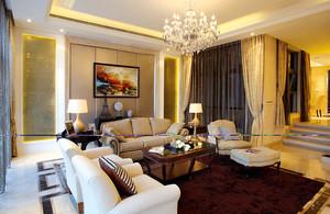 145平米新古典主义风格大户型室内装修效果图赏析