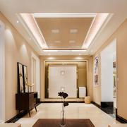新中式风格大户型室内精致过道吊顶设计装修效果图