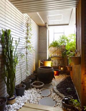 中式风格阳台花园设计装修效果图赏析
