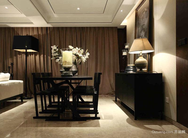120平米中式风格精致室内装修效果图案例