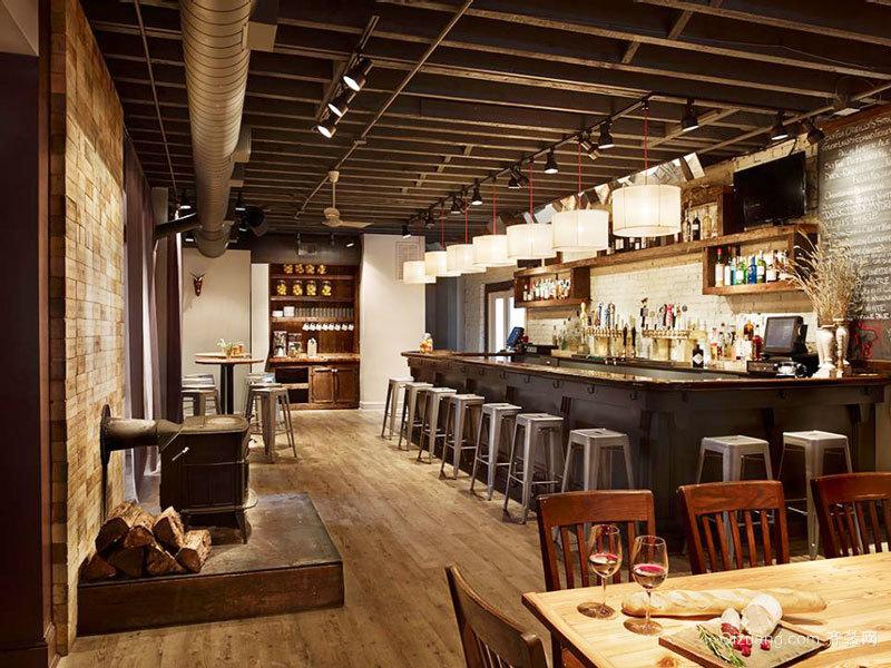 88平米美式乡村风格酒吧设计装修效果图赏析