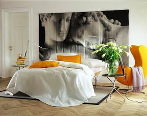 后现代风格简约卧室背景墙装修效果图赏析