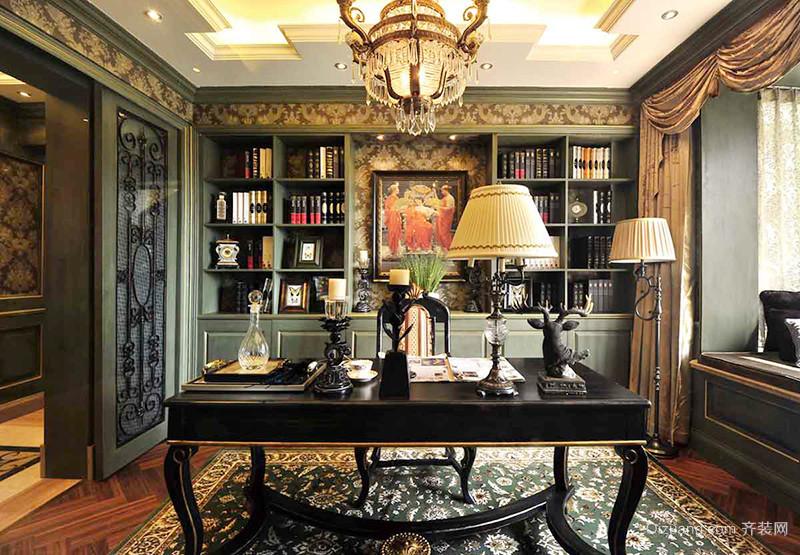 186平米美式风格精致大户型室内装修效果图赏析