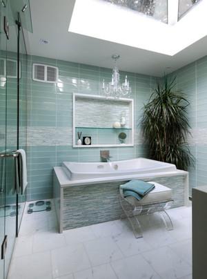 清新风格大户型卫生间设计装修效果图赏析