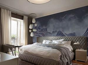 新中式风格雅韵卧室背景墙装修效果图赏析
