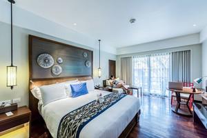 新中式风格精致卧室背景墙装修效果图赏析