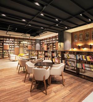 120平米宜家风格简约书店设计装修效果图赏析