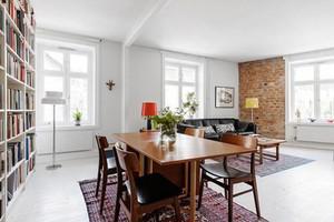 97平米北欧风格简约两室两厅室内装修效果图案例