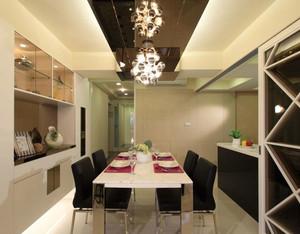 现代简约风格黑白配餐厅吊顶设计装修效果图赏析