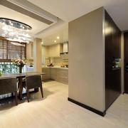 新中式风格大户型精致餐厅吊顶设计装修效果图赏析
