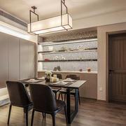现代风格简约餐厅吊灯设计装修效果图赏析