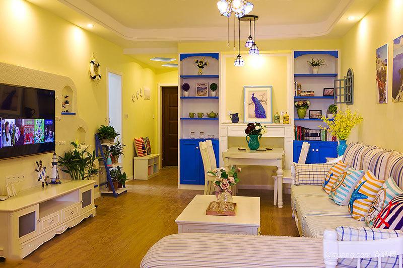 90平米地中海风格精装室内装修效果图赏析