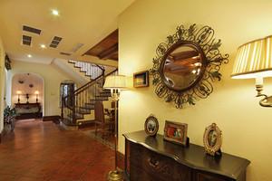 197平米仿古美式风格复式楼室内装修效果图赏析