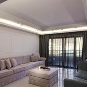 简欧风格简洁客厅装修效果图欣赏