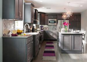 美式风格大户型精致开放式厨房装修效果图赏析
