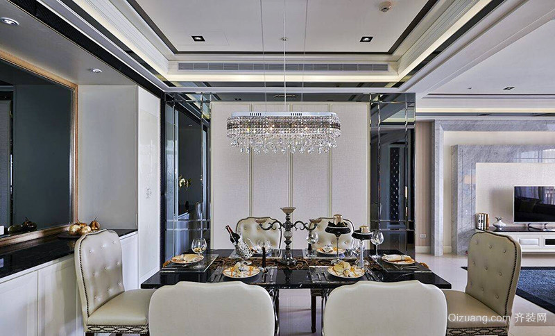 156平米欧式风格精致大户型室内装修效果图赏析