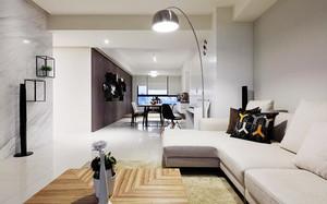 80平米现代简约风格精装室内装修效果图