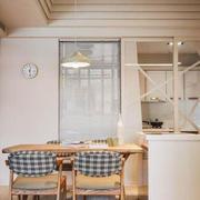 宜家风格温馨简约小户型餐厅设计装修效果图