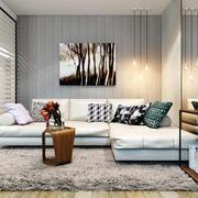 现代简约风格温馨小户型客厅装修效果图赏析