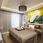 新中式风格简约典雅卧室背景墙装修效果图赏析