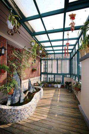 地中海风格大户型封闭式阳台设计装修效果图赏析