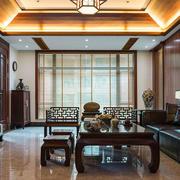 中式风格大户型精致典雅客厅装修效果图赏析