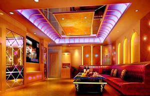 66平米现代风格KTV包房吊顶设计装修效果图