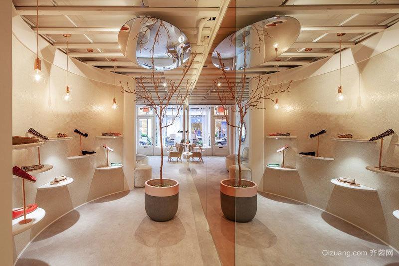 80平米简欧风格精品鞋店设计装修效果图