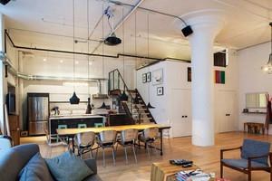北欧风格复式楼开放式厨房餐厅装修效果图赏析
