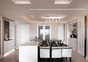 现代简约风格纯白餐厅吧台设计装修效果图赏析