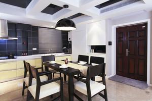 中式风格精致餐厅吊顶设计装修效果图