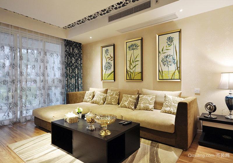 东南亚风格两居室简约客厅装修效果图赏析