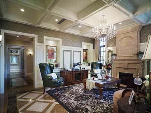 300平米风格精致美式风格别墅室内装修效果图赏析