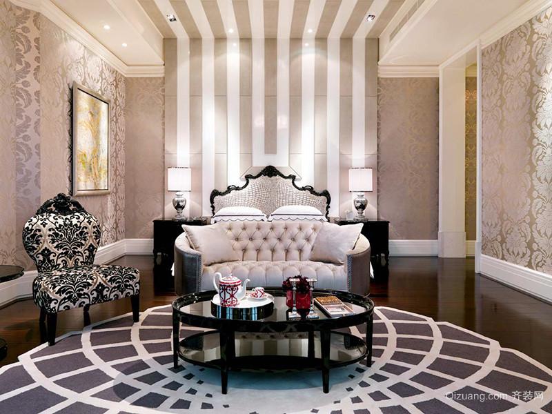 369平米欧式风格典雅奢华别墅室内装修效果图赏析