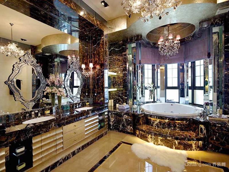 270平米欧式风格精致典雅别墅室内装修效果图赏析