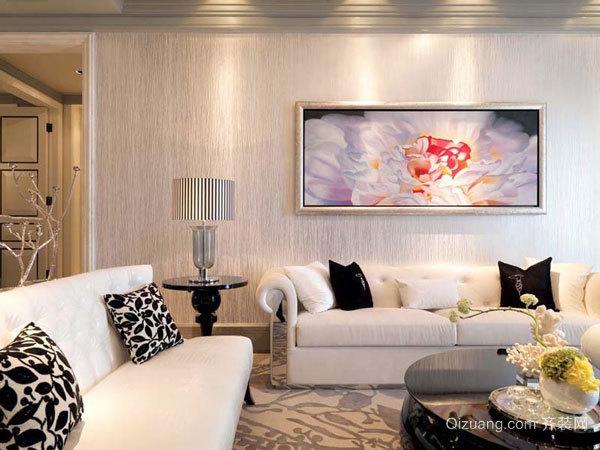120平米欧式风格典雅精致室内装修效果图赏析