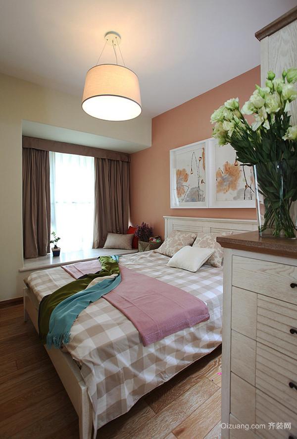 98平米清新美式风格精致三室两厅室内装修效果图案例